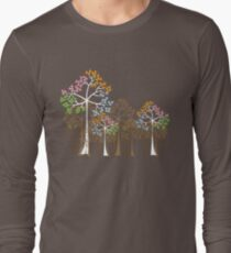 Colorful Four Seasons Trees Long Sleeve T-Shirt