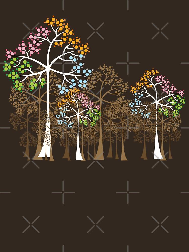 Colorful Four Seasons Trees | Unisex T-Shirt