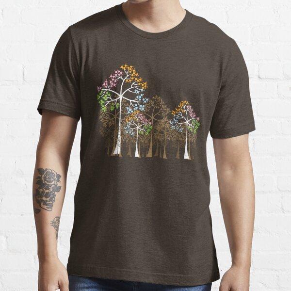 Colorful Four Seasons Trees Essential T-Shirt