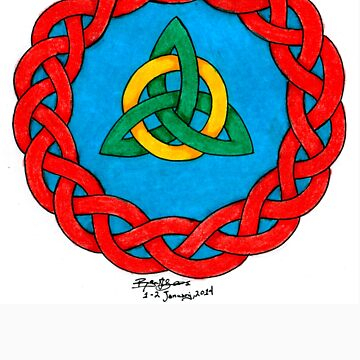 Celtic Knot Design With Triquetra by Hrothgar79