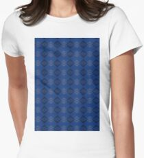 Blue & Black Womens Fitted T-Shirt