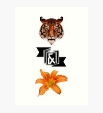 Tiger & Lily, Peter Pan themed- Simple Art Print