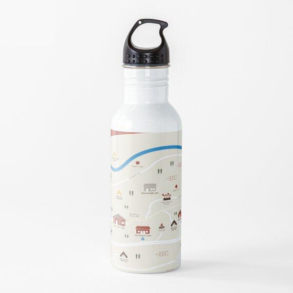 Camp Earnest camp map Water Bottle