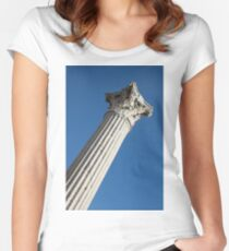 Classical Corinthian Column - Ancient Pompeii Graceful Beauty Right Women's Fitted Scoop T-Shirt