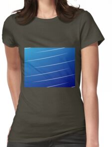 blue gradient with white lines Womens Fitted T-Shirt