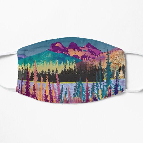 Sleepy Sisters | Colourful, Three Sisters Mountain Range, digital painting Flat Mask