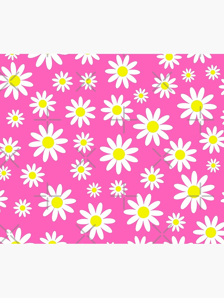 pink daisies daisy floral  by gossiprag