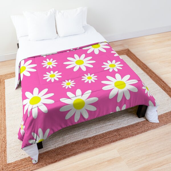 pink daisies daisy floral  Comforter
