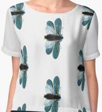 Blue Moth Chiffon Top