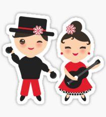 Flamenco boy and girl Sticker