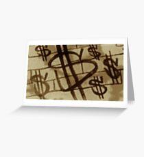 Dollars Greeting Card