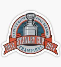 Back to Back Full Season Champions - Retro (Stitched) Sticker