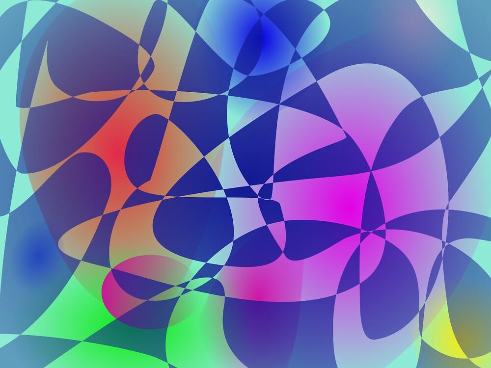 Broken Tile Mosaic Design Abstract Art by masabo