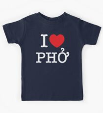 I Heart (Love) Phở Kids Tee