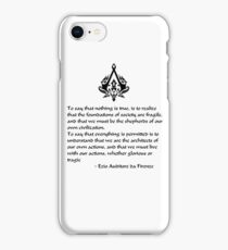 Nothing is True, Everything is Permitted (Black Lettering) iPhone Case/Skin