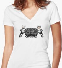 Back to Back Full Season Champions - Cartoon Women's Fitted V-Neck T-Shirt