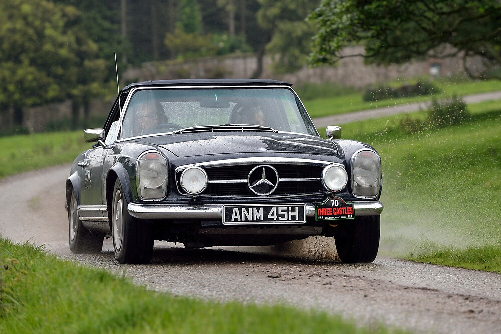 The Three Castles Welsh Trial 2014 - Mercedes 280SL by Three-Castles