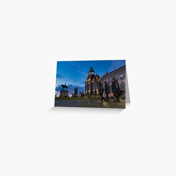 The Liver Birds at Twilight Greeting Card