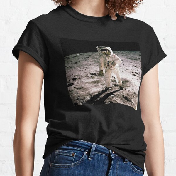 Buzz Aldrin On The Moon Classic T-Shirt