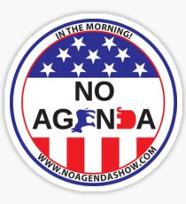 No Agenda Badge of Courage Sticker