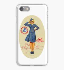 Vintage TWA Luggage Label iPhone Case/Skin