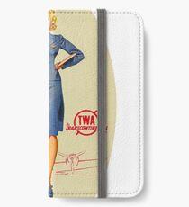Vintage TWA Luggage Label iPhone Wallet/Case/Skin