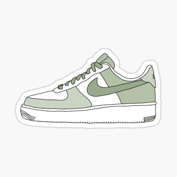 sage green af1</3 Sticker