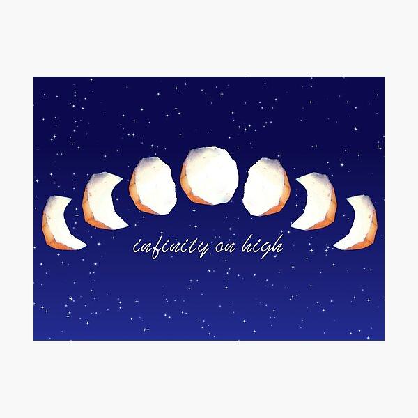 Infinity Moon Phases Photographic Print
