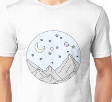 Sky and Mountain Scene Unisex T-Shirt