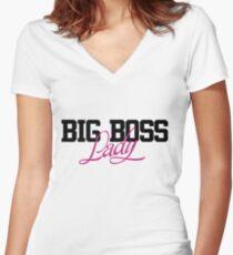 Big boss Lady Shirt mit V-Ausschnitt