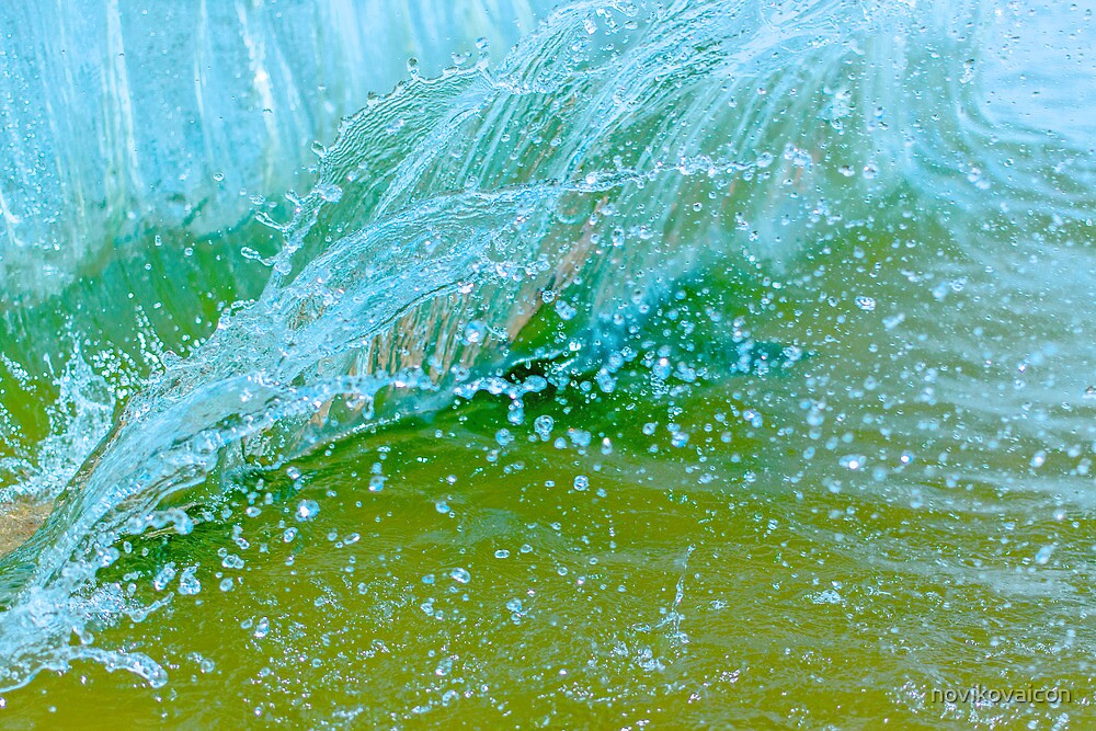 Water blue by novikovaicon