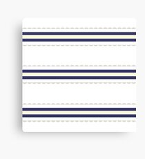 Just Perfect Wedding white Folk Retro Series with Fashion stripes Canvas Print