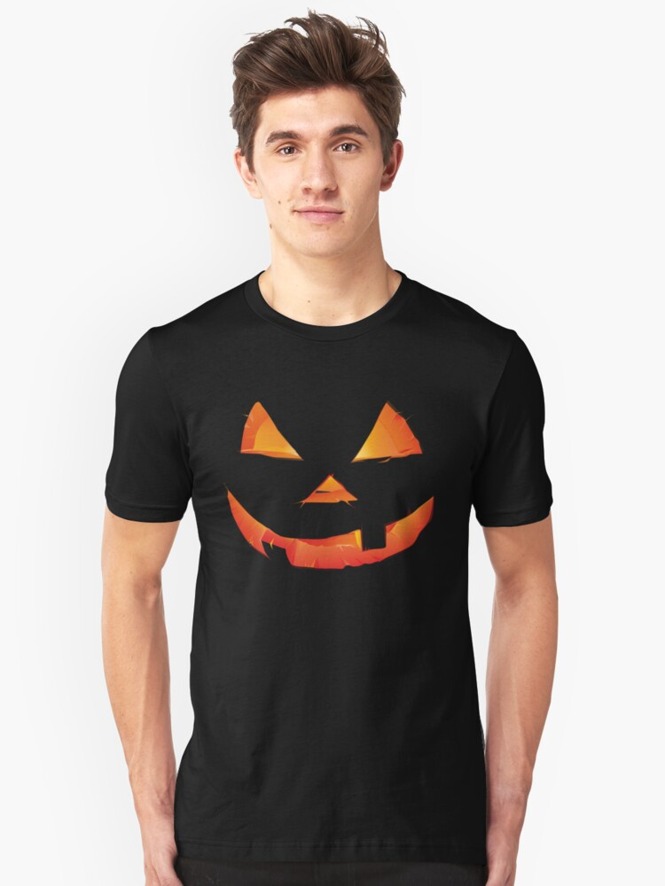 Pumpkin Head Unisex T-Shirt Front