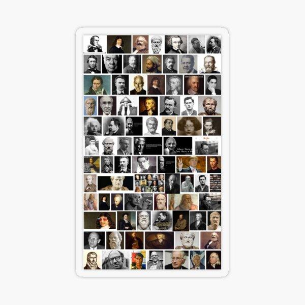 Famous philosophers, #Famous, #philosophers, #FamousPhilosophers, #Philosophy, #philosopher, #FamousPhilosopher Transparent Sticker