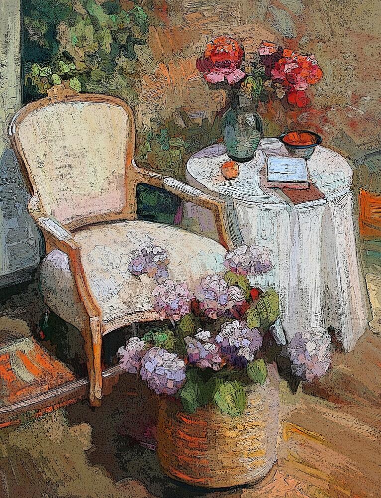 On the veranda by Sally  Rosenbaum