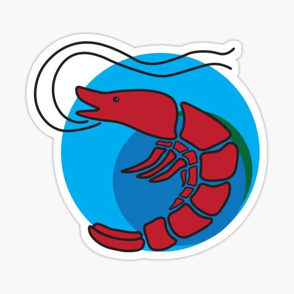 Shrimp Ocean Sticker