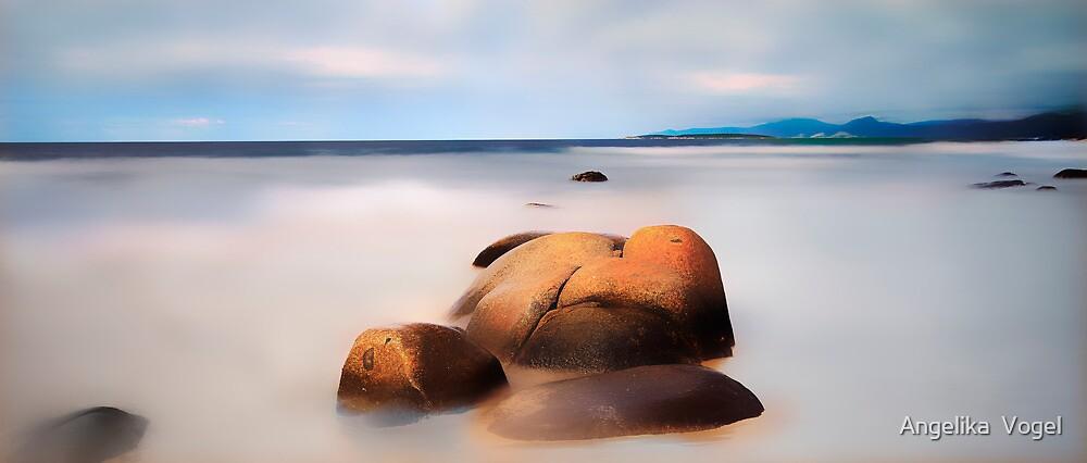 Orange Rocks by Angelika  Vogel