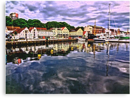 The harbour at Stavanger, Norway by Tim Constable by TimConstable