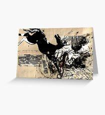 Dark Horse Vintage Collage Greeting Card