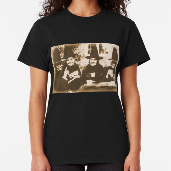 Witches Tea Party - sepia Classic T-Shirt