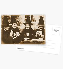 Witches Tea Party - sepia Postcards