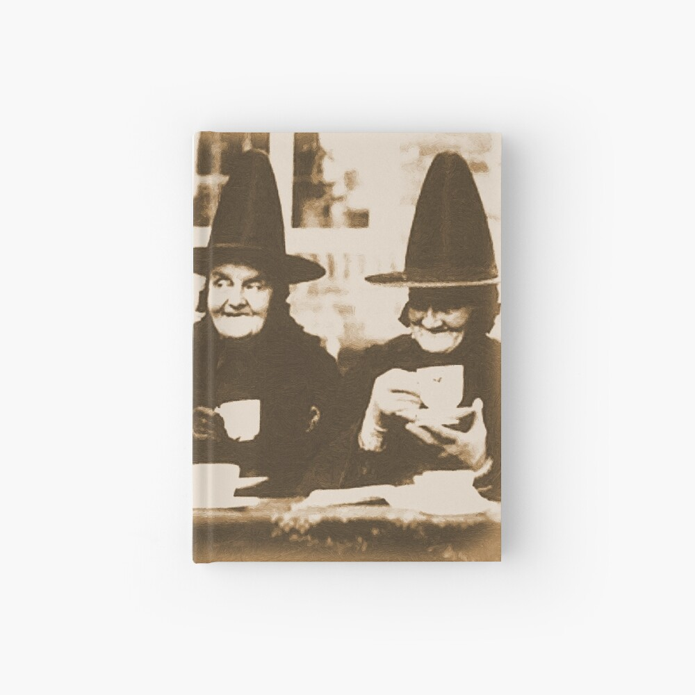 Witches Tea Party - sepia Hardcover Journal