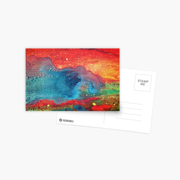 Electric Galaxy Painting Postcard