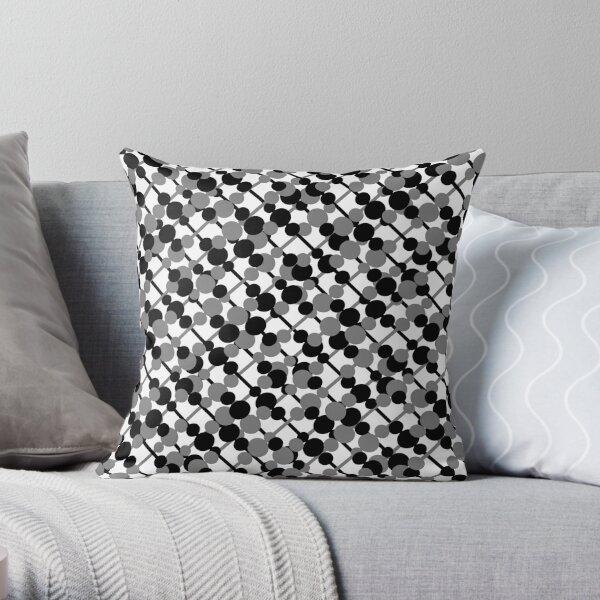 Letve (Black/Gray) Throw Pillow