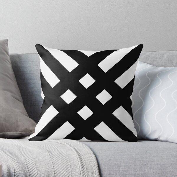 Dijagonala (Black/White) Throw Pillow