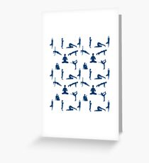 Yoga Positions Pattern Greeting Card