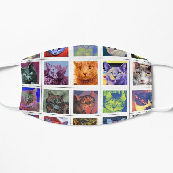 Cats of Color by Faye Klein Flat Mask
