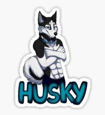 Anthro Husky  Sticker
