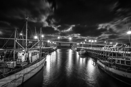 San Remo at Night by Jacqui Barr