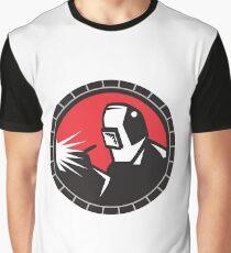 Welder Arc Welding Circle Retro Graphic T-Shirt
